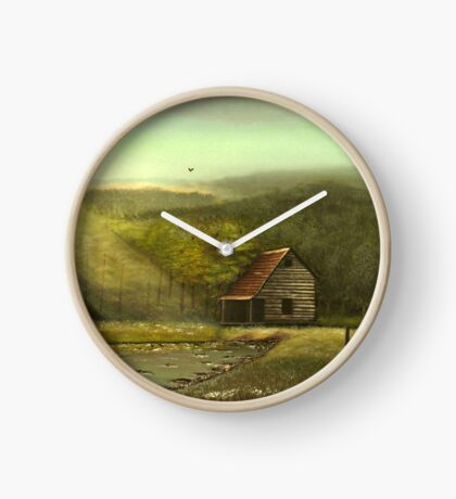 SEASONED, Acrylic Painting, for prints and products Clock
