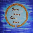 Open Mind Open Heart on Silk by FionaStolze