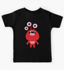 Red funny and silly cartoon monster Kids Clothes