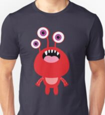 Red funny and silly cartoon monster Unisex T-Shirt