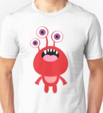 Red funny and silly cartoon monster T-Shirt
