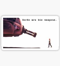 His Weapons Sticker