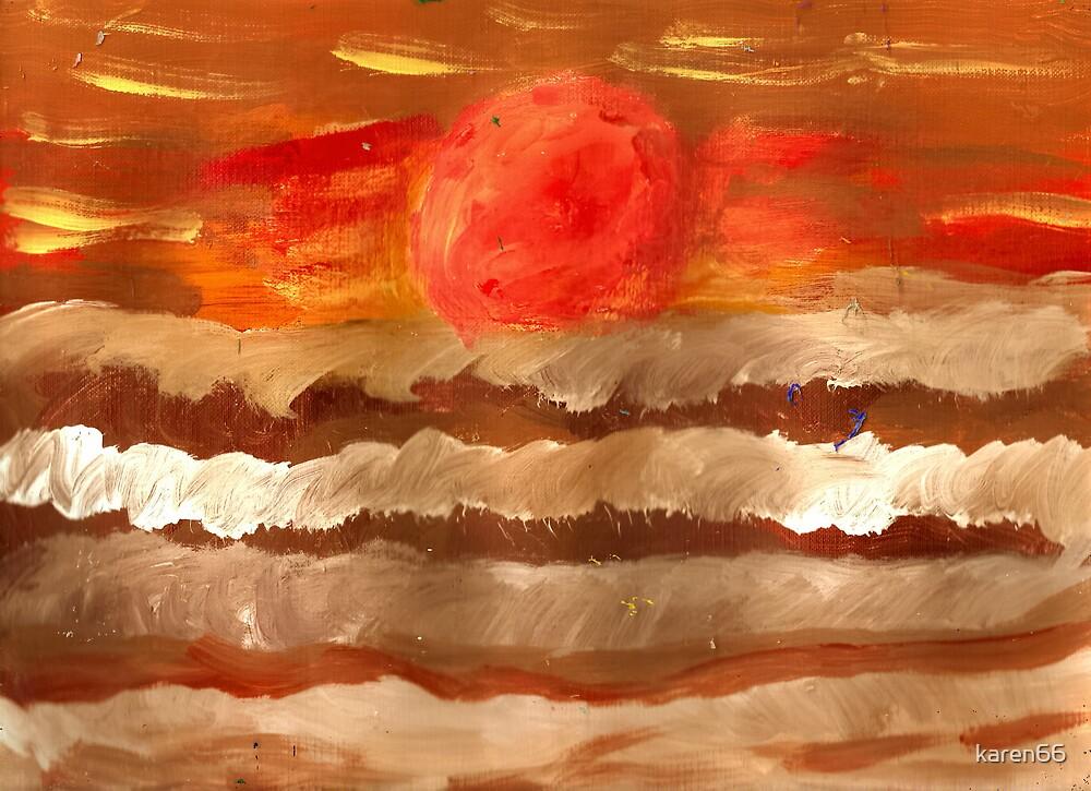 Dark Ocean Sunset by karen66