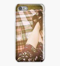 vintage 40s 30s picnic iPhone Case/Skin