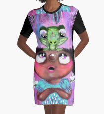 How Did You Get On My Head Little Frog? Graphic T-Shirt Dress