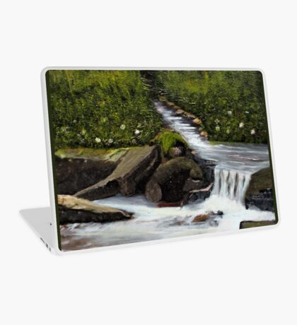 STREAMS OF LIVING WATER, Acrylic Painting, for prints and products Laptop Skin