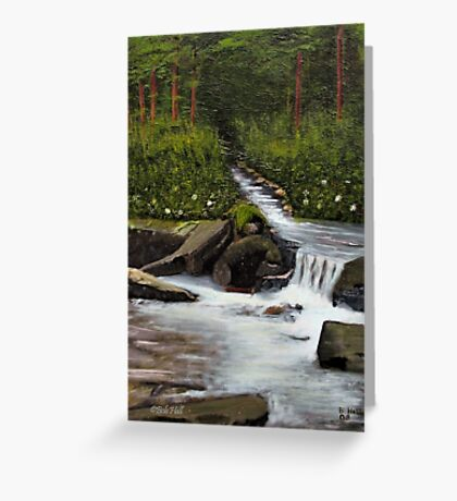 STREAMS OF LIVING WATER, Acrylic Painting, for prints and products Greeting Card