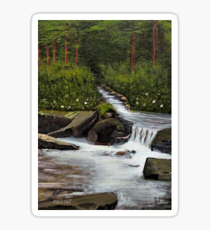 STREAMS OF LIVING WATER, Acrylic Painting, for prints and products Sticker