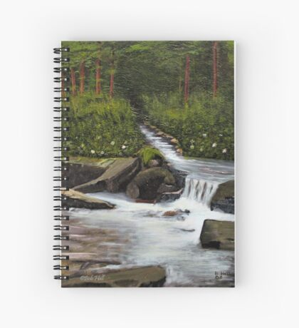 STREAMS OF LIVING WATER, Acrylic Painting, for prints and products Spiral Notebook