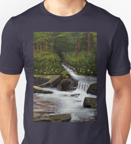 STREAMS OF LIVING WATER, Acrylic Painting, for prints and products T-Shirt