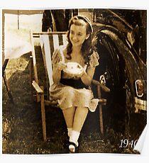 WW2 girl Poster