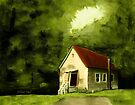 COUNTRY CHURCH, Pastel Painting, for prints and products by Bob Hall©