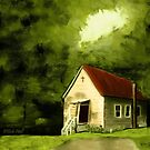 """Country Church 1""... prints and products by Bob Hall©"
