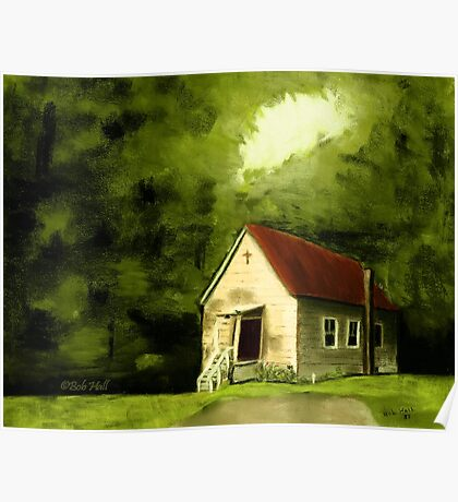 """""""Country Church 1""""... prints and products Poster"""