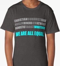 We Are All Equal Religious Harmony Long T-Shirt
