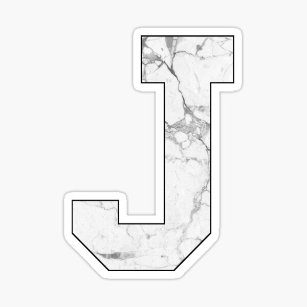 Initial Marble J Sticker