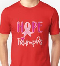 Hope Triumphs Breast Cancer Survivors Day 2017 T-Shirt