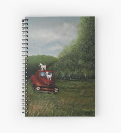 PLAYTIME, Acrylic Painting, for prints and products  Spiral Notebook