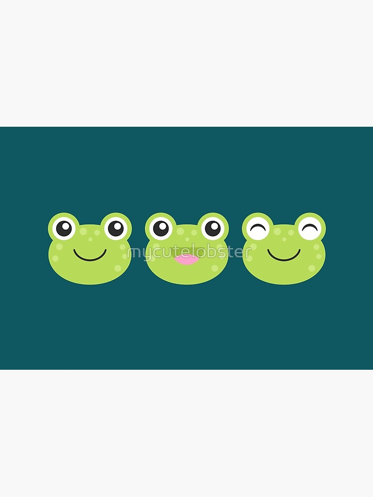 Happy Kawaii Frog Faces by mycutelobster
