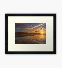 Arnside Sunset Framed Print