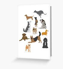 Dog Breeds Greeting Card