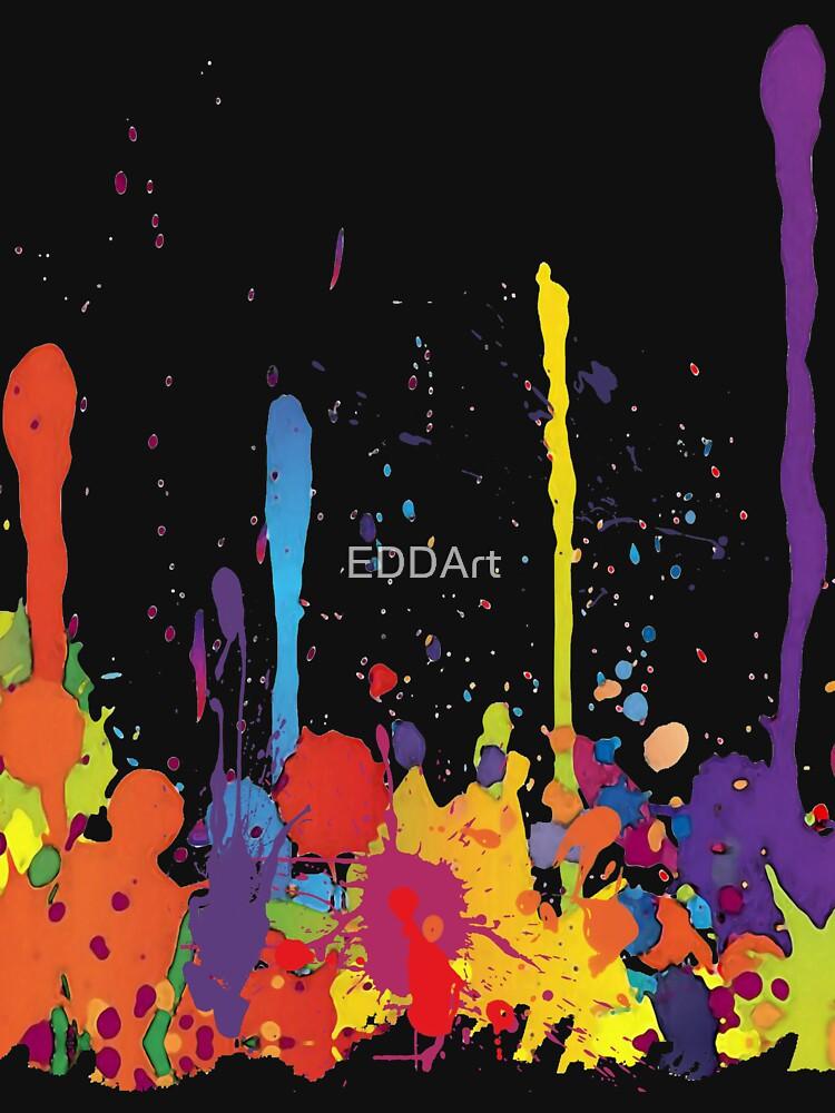 Crazy multicolored running SPLASHES horizontal by EDDArt