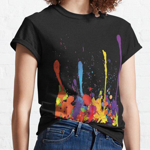 Crazy multicolored running SPLASHES horizontal Classic T-Shirt