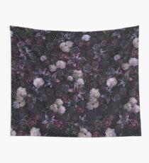 Midsummer Nights Dream #Dark Floral #Midnight #Black #Rose #Night Wall Tapestry