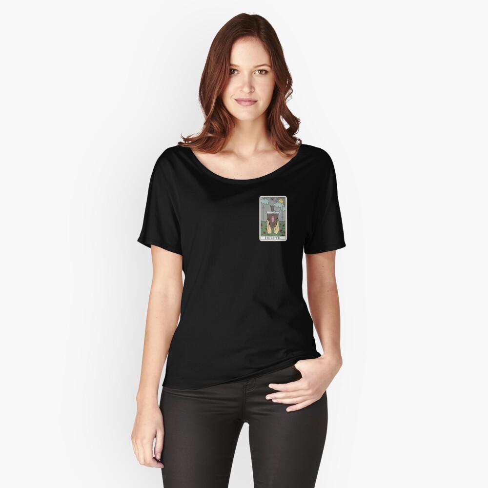 (Schwarz) Kaffee lesen Loose Fit T-Shirt