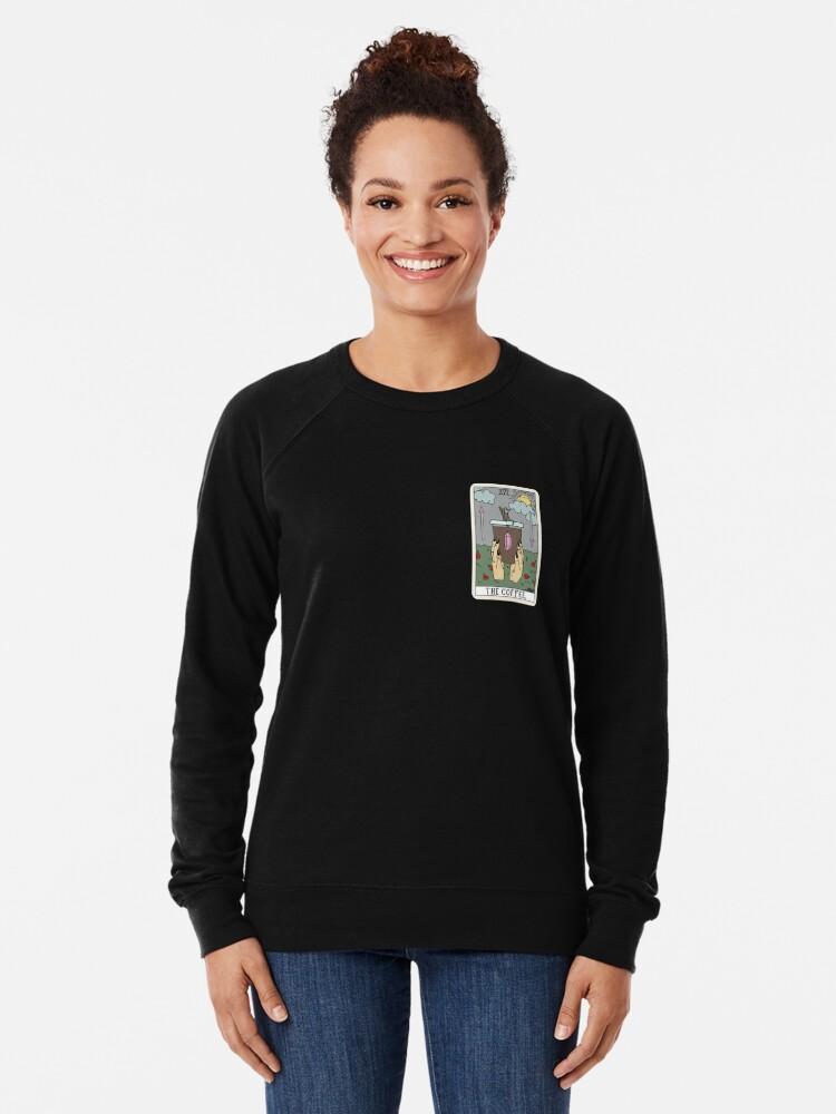 Alternate view of (Black) Coffee Reading Lightweight Sweatshirt