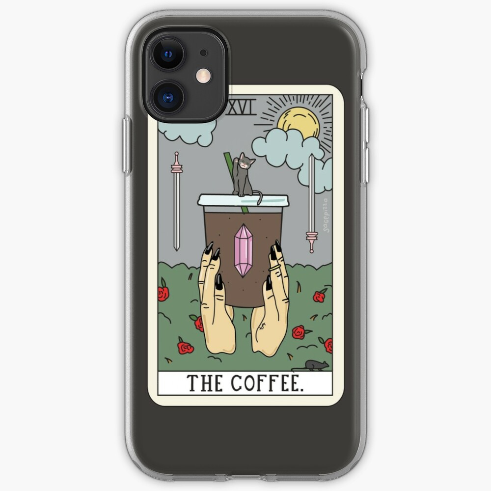 (Black) Coffee Reading iPhone Case & Cover