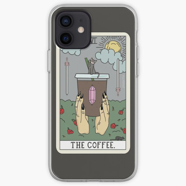 (Black) Coffee Reading iPhone Soft Case