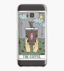 (Black) Coffee Reading Samsung Galaxy Case/Skin