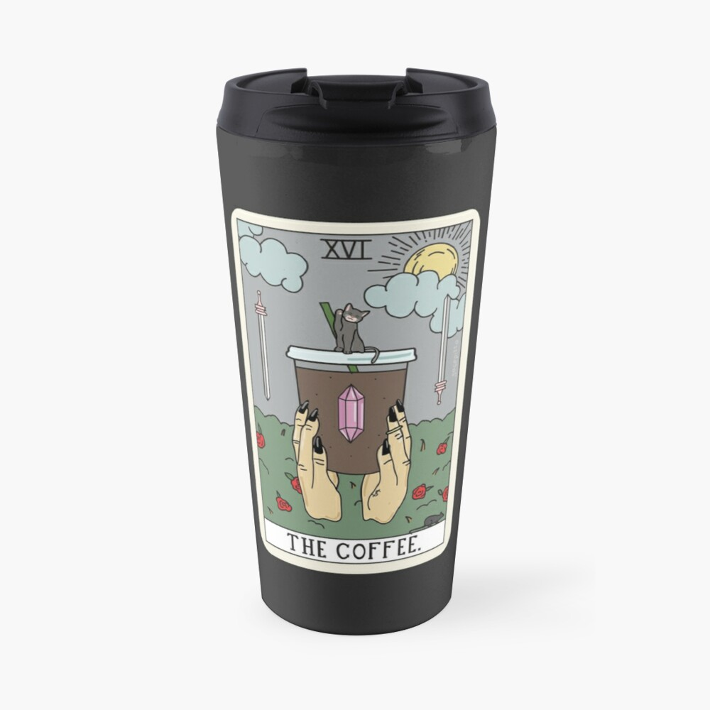 (Black) Coffee Reading Travel Mug