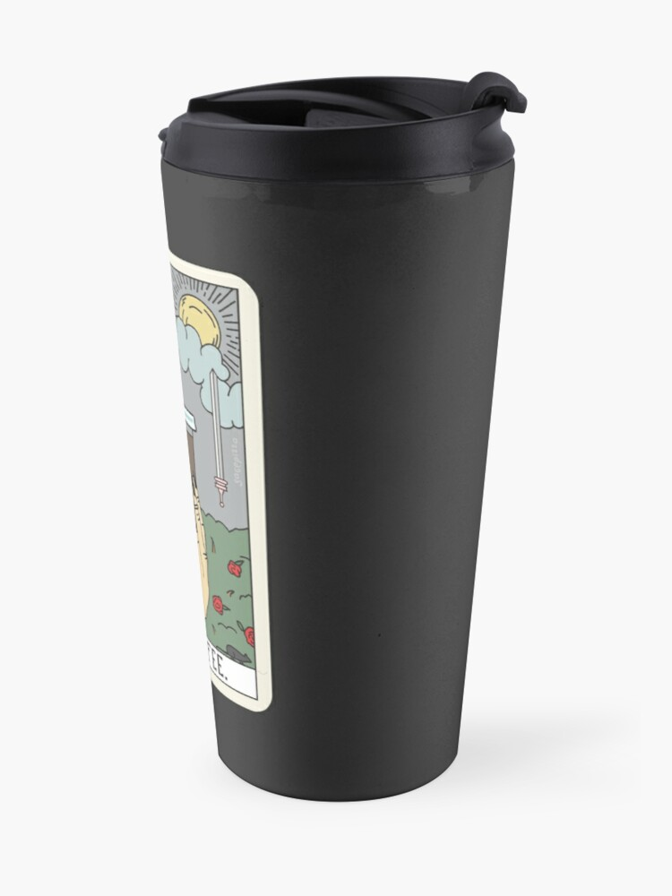 Alternate view of (Black) Coffee Reading Travel Mug