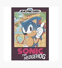 Sonic The Hedgehog Classic Photographic Print