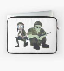 Rick and Frankenstein's Monster — Rick and Morty Laptop Sleeve