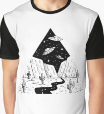 Desert Abduction - Triangle Drawing Graphic T-Shirt