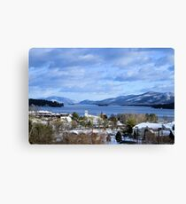 Winters lake Canvas Print
