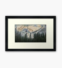 Time to Travel - Mountains and Forests Framed Print