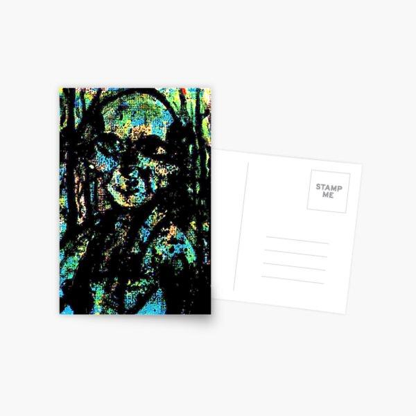 Dark Green Spirirt Postcard