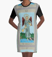 The Temperance Tarot Colored Graphic T-Shirt Dress