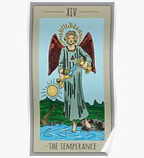 The Temperance Tarot Colored Poster