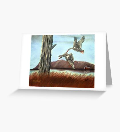 RESTING PLACE, Pastel Painting, for prints and products Greeting Card