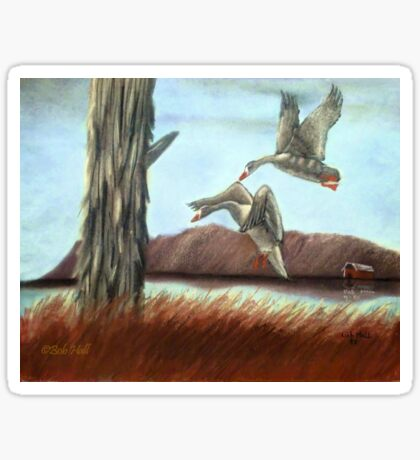 RESTING PLACE, Pastel Painting, for prints and products Sticker