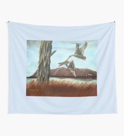 RESTING PLACE, Pastel Painting, for prints and products Wall Tapestry