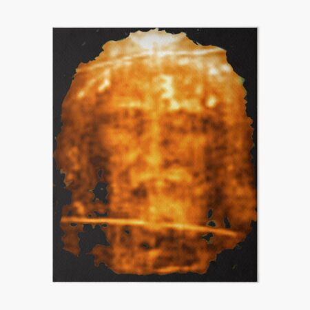 The Shroud of Turin Holy Face of Jesus Art Board Print
