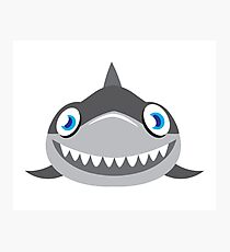 cute happy shark face Photographic Print