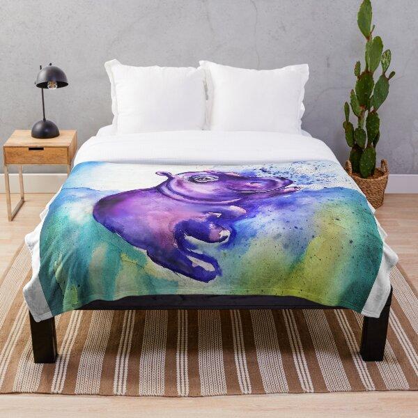Baby Hippo Throw Blanket
