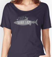CRAZY Shark lady  Women's Relaxed Fit T-Shirt